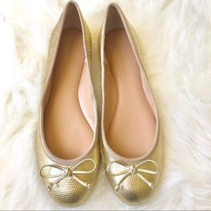 🔥NWOT Banana Republic Ashley Gold flats - Size 8✨